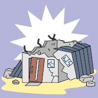 地震、風、台風による倒壊