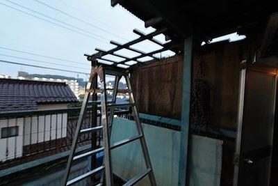 東村山市の管理物件で台風対策をしている写真②