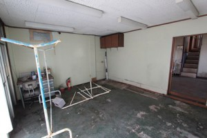 台風対策_物を室内に移動した写真