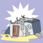 震度5弱の地震で空き家の壁が崩れるなどの被害がありました。