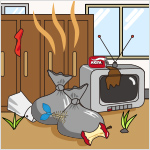 ごみ等の放置、不法投棄による臭気の発生があり、地域住民の日常生活に支障を及ぼしている