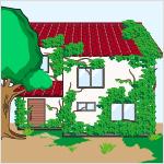 立木等が建築物の全面を覆う程度まで繁茂している