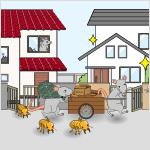 シロアリが大量に発生し、近隣の家屋に飛来し、地域住民の生活環境に悪影響を及ぼすおそれがある
