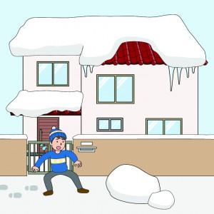 【特定空き家】落雪のイラスト