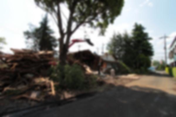 大きな家だったため解体作業も時間がかかりました