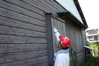 外壁、軒裏の確認