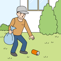 【3】敷地内の掃除、建物外部の確認