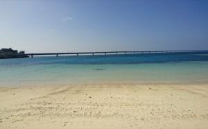 宮古島から見た伊良部大橋